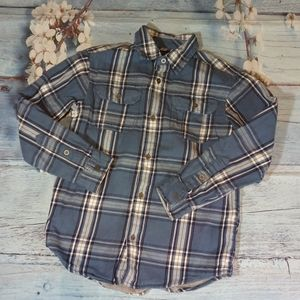 Tommy Hilfiger Boy Size M Blue Button Down Shirt